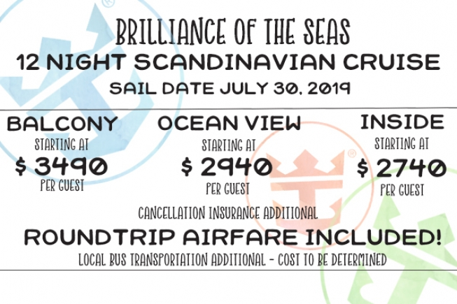 12 Night Scandinavian Cruise on Royal Caribbean Brilliance of the Seas